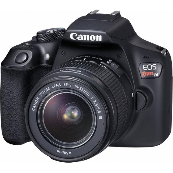 Canon Eos Rebel T6 Kit 18-55mm 18mp Wi-fi Garantia Oficial