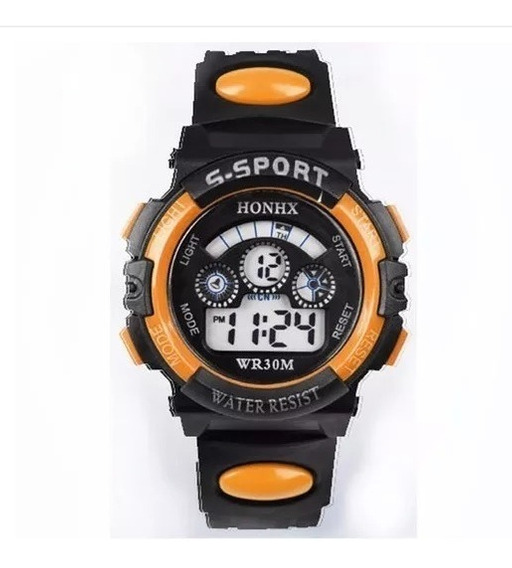 Kit C/2 Relógio Pulso Digital Led Infantil Masculino - Honhx