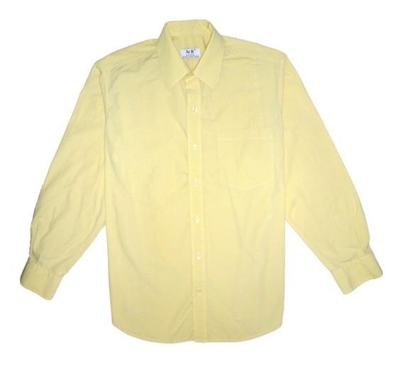 Camisa Amarilla Manga Larga Unicolor. Aceptamos Pago Movil.