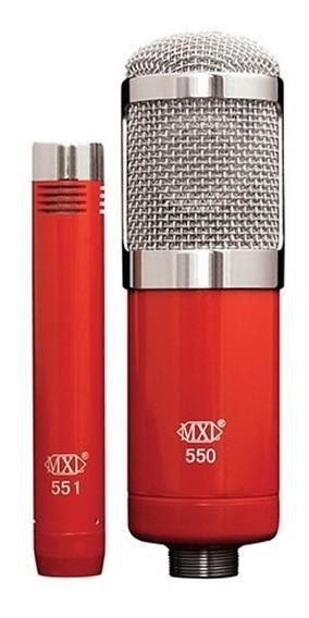 Mxl 550/551r Microfones Profissional Gravação Condensadores
