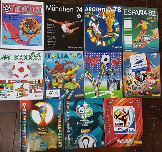 11 Album Figurinhas Copa Do Mundo Panini 1970 A 2010 Reprint