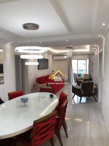 Imagem 1 de 30 de Cobertura Com 3 Dormitórios À Venda, 136 M² Por R$ 950.000,00 - Vila Guilhermina - Praia Grande/sp - Co0012