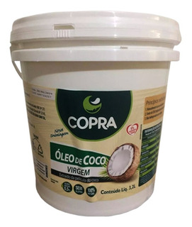 Óleo De Coco Virgem 3,2l Puro Balde - Copra Preço Especial