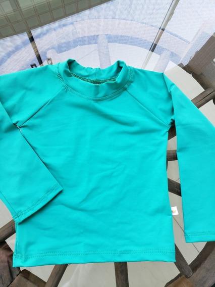 Camiseta Proteção Solar Infantil Verde