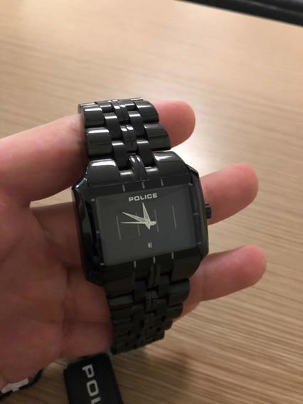 Relógio Masculino Police Matrix 10812jsb/02m Novo Na Caixa