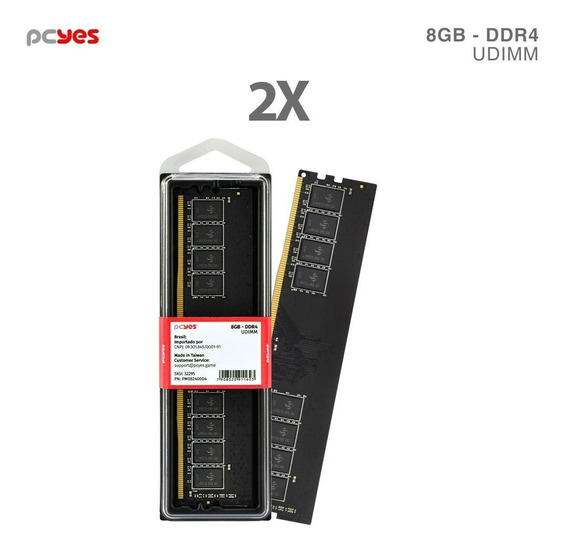 Memoria Pcyes Ddr4 16gb (2x 8gb) 2400mhz Pm082400d4