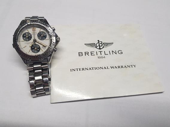 Relógio Breitling Colt Chronographe C/ Certificado E Estojo