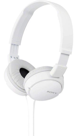 Fone De Ouvido Headphone Sony Barato Dobrável Branco Novo