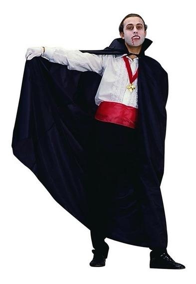 Disfraz Capa Vampiro Larga Negra