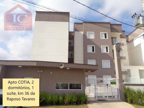 Apartamento Com 2 Dormitórios À Venda, 57 M² Por R$ 235.000 - Outeiro De Passárgada - Cotia/sp - Ap0328