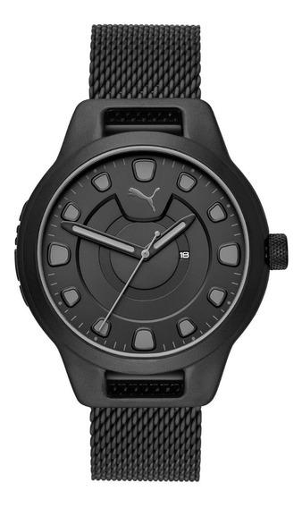 Reloj Unisex Puma Reset V1 P5007 Color Negro De Acero
