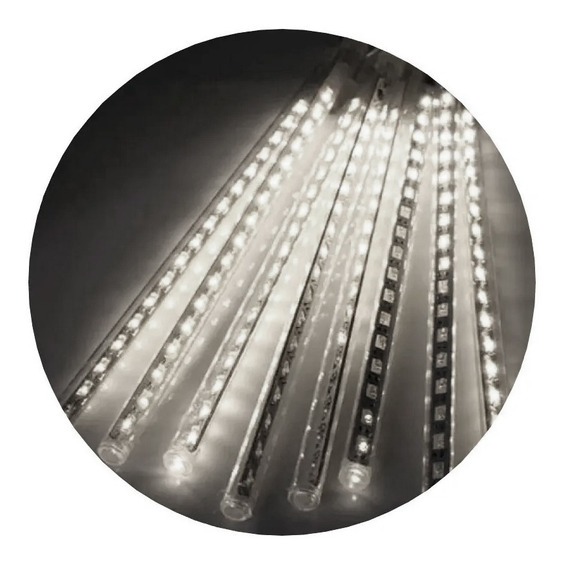 Luces Led Lluvia Meteoritos Pack X 8 Tiras 50cm Colores