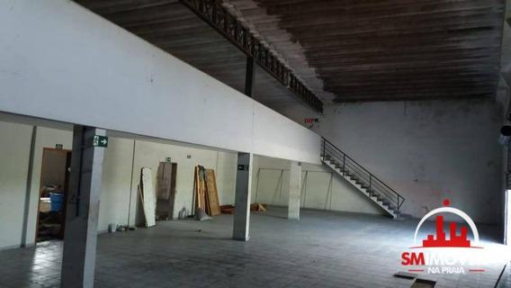 Galpão Para Alugar, 600 M² Por R$ 10.000/mês - Vila Tupi- Praia Grande/sp - Ga0005
