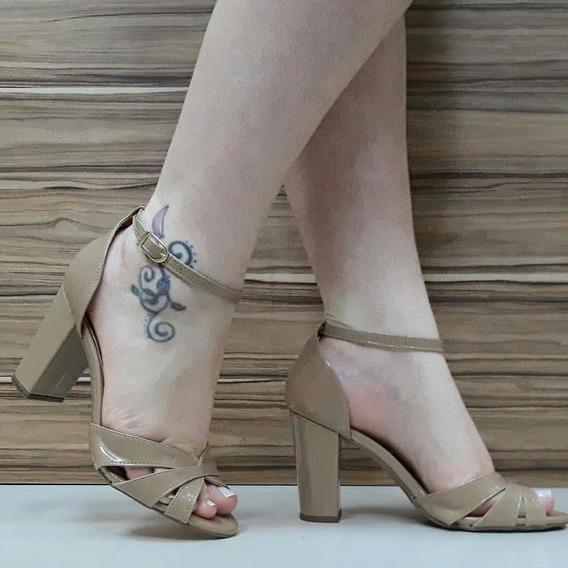 Sandália Salto Alto Nude Cm