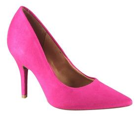 Sapato Feminino Scarpin Vizzano Salto Fino Pink 11841004/113