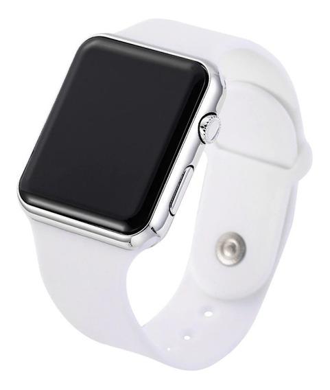 Relógio Pulso Digital Led Masculino Feminino Branco Barato