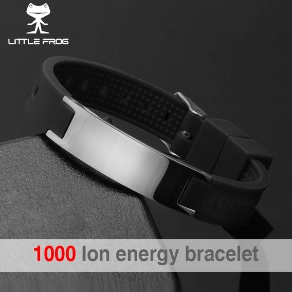 2 Pulseiras Magnéticas Ion Fir Bracelete Silicone Promoção