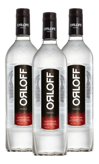 Kit Vodka Orloff 1l - 3 Unidades