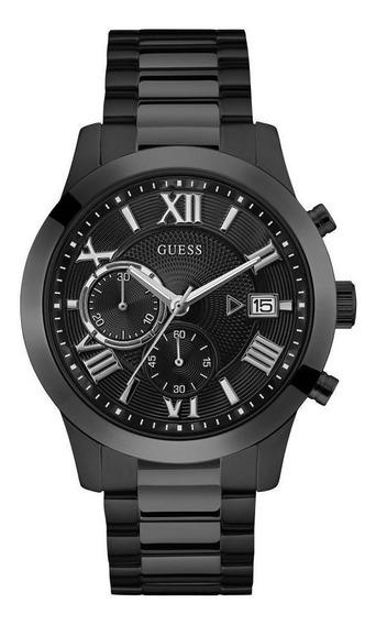 Relógio Masculino Guess Aço Preto Mostrador Estriado