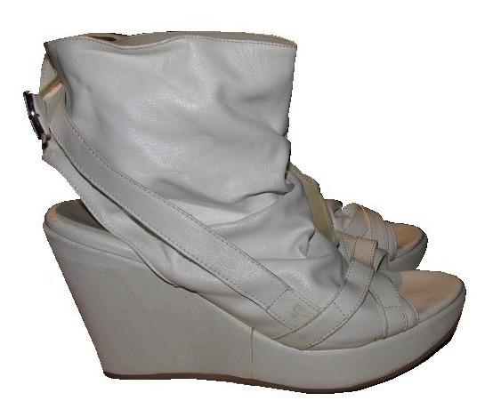 Zapato Nazaria Taco Chino Blancos N° 38 Usados Envío Gratis