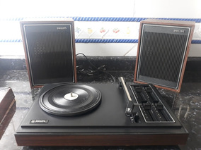 Toca Disco Vitrola Stereo Philips Gf 723