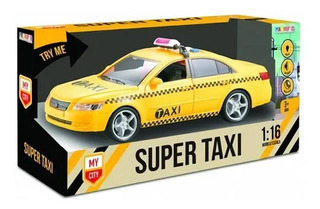 Juguete Auto Super Taxi A Friccion Con Luces Sonidos Magnifi