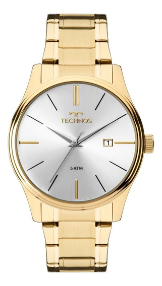 Relógio Masculino Technos 2115mpn/4k 42mm Aço Dourado