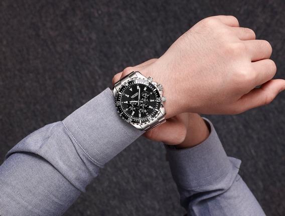 Relógio Pulso - Megir 46mm - Hardlex - Funcional