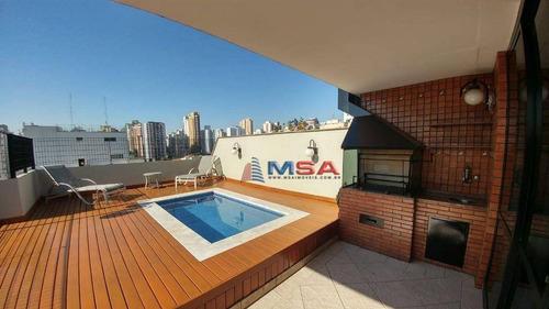 Cobertura Com 4 Dormitórios À Venda, 240 M² Por R$ 2.550.000 - Perdizes - São Paulo/sp - Co0296