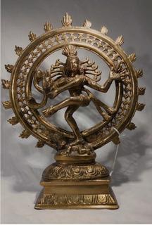 Shiva Nataraja Bronce Solido 28cms