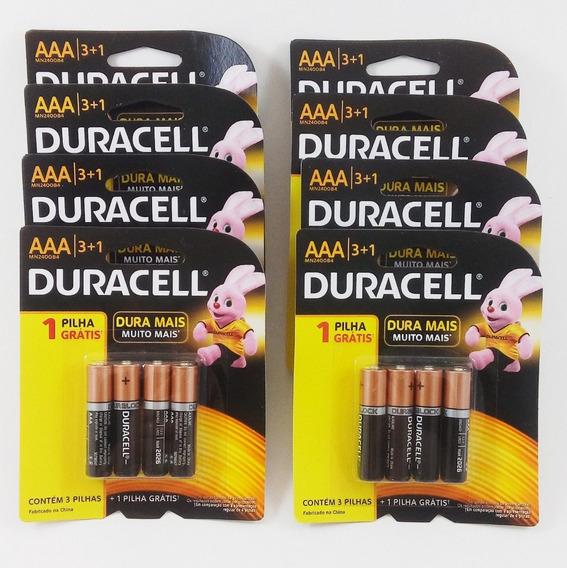 Kit Pilhas Duracell Duralock Alcalinas Aaa - C/32 Unidades