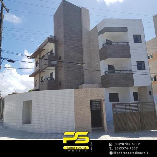 Apartamento Com 2 Dormitórios À Venda, 50 M² Por R$ 175.000,00 - Castelo Branco - João Pessoa/pb - Ap3275