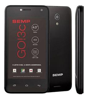 Smartphone Semp Go! 3c, Preto, Tela 4, Android