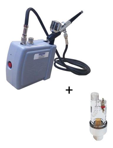 Kit Aerografo Hs08ac-skc 12v+ Aerografo Confeitaria+ Filtro