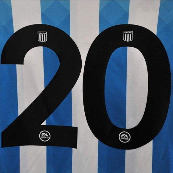 Estampado Numero Racing Club 2020 - 2 Digitos + Nombre