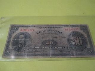 Billete De 50 Bs 1951