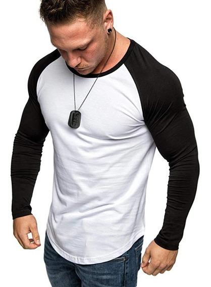 Blusa Masculina Manga Longa Raglã Roupa Masculina Qualidade