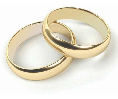 Argollas De Matrimonio Plata Baño Oro Boda Pareja Anillos 10