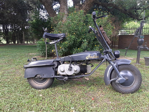 Moto Antigua Minimoto Tipo Paracaidista Indian Papoose 1954