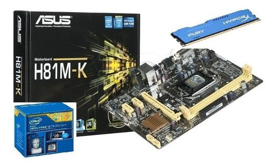 Kit Placa Mãe Asus +dual Core 2650 +4gb Ddr3