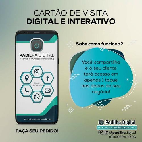 Imagem 1 de 1 de Cartão De Visita Digital E Interativo Para O Seu Negócio