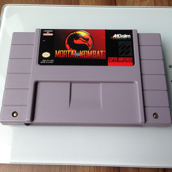 Cartucho Mortal Kombat 1 Original - Super Nintendo - Snes