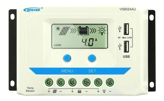Controlador Solar 60a Pwm 12/24v Vs6024au Epever (off Grid)
