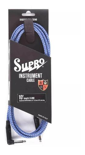Cable Guitarra Supro 10ft Italianos Con Fichas Amphenol