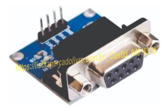 Modulo Max3232 Conversor Rs232 / Ttl Conector Db9 Femea