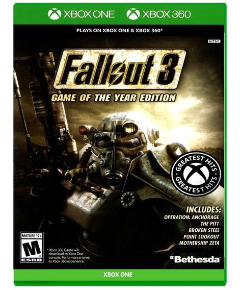 Fallout 3: Goty - Mídia Física - Novo - Xbox One - Xbox 360