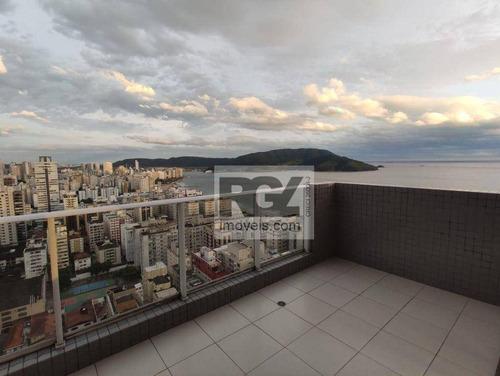 Apartamento Com 4 Dormitórios, 240 M² - Venda Por R$ 3.100.000,00 Ou Aluguel Por R$ 20.000,00/mês - Embaré - Santos/sp - Ap2043