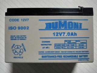 Batería Alarma Dumont 12v 7.0ah.