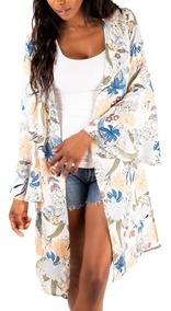 Kimono Floral - En Creme