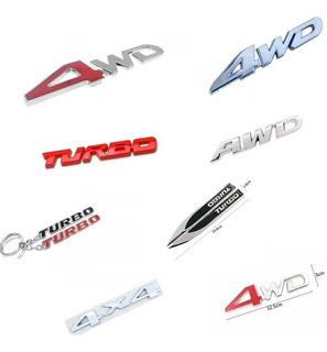 Insignias Metálicas 4x4 Awd 4wd Turbo Tracker Eco Kuga